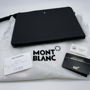 Montblanc Extreme 2.0 123934 black leather with zip and wrist strap