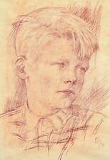 "Ernst Wanner 1917-2002 Stuttgart Aalen / Rötel 1959 ""Gottfried Büscher *1948"""