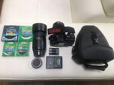 PENTAX Pentax K10D Digital SLR Camera - Black - Kit + EXTRAS!
