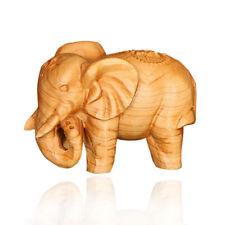 Wooden Carved Elephant Ornament Gift For Animal Lovers Scuplture Home Decor