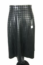 Lane Bryant Skirt Plus size 26 28 Black Hounds Tooth Ponte Modest