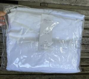 Sferra King 4 Pc Sheet Set 500 Thread Count Long Staple Cotton Sateen White