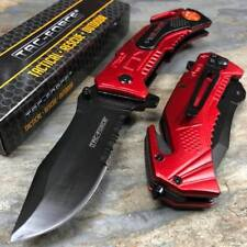 Tac Force Fire Department Outdoor Camping Rescue Knife Survival Pocket Knife