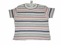 C & A tolles T-Shirt Gr. 68 weiß-blau-rot gestreift !!