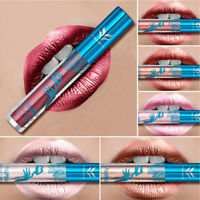 Women Matte Metallic Lip Gloss Waterproof Non-stick Cup Lipgloss Liquid Lipstick
