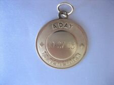 VINTAGE 1968 14K YELLOW GOLD A DAY TO REMEMBER MONOGRAMMED CHARM