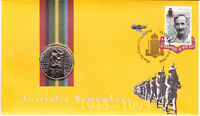 1995 AUSTRALIA REMEMBERS DECIMAL STAMP FIRST DAY COVER 50c WEARY DUNLOP COIN PNC