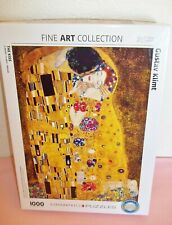 """EuroGraphics Fine Art Collection """"The Kiss"""" by Gustav Klimt 1000 Piece Puzzle"""