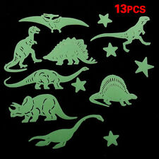 Hot Sale 13 Pcs Plastic Glow In The Dark Star Dinosaur Fluorescent Stickers HY