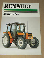 Prospectus  Tracteur RENAULT Série TX/TS 1988 prospekt brohcure traktor tractor