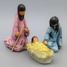 Goebel DeGrazia Village Nativity Holy Family Joseph Mary Baby Jesus Figurines