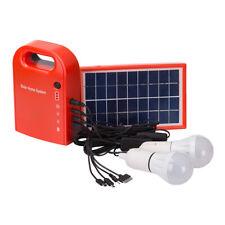 Indoor Mini Solar Powered Panels Led Light Bulb Portable Lantern Lamp Spotlight