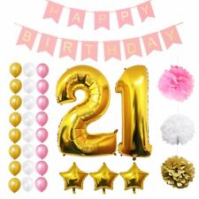 Belle Vous- Number Foil Balloons Birthday Wedding Party Decor Gold Silver
