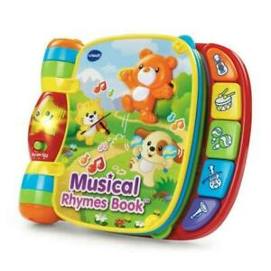 Used VTech 80166700 Musical Rhymes Educational Book for Babies
