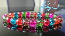 Multi Color Quartz Gemstone Bead Bracelet for Men or Women (Stretch) 8mm 7.5""