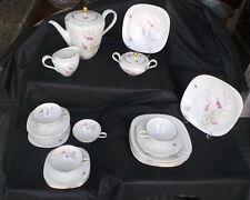 Vintage Wunsiedel Bavaria Square Claudia Kaffee Tee Service für 5 - 20 Stück