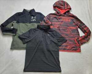 Boys L XL Under Armour bundle: golf polo / quarter zip  / hoodie fleece