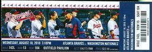 2010 Braves vs Nationals Ticket: Jason Heyward walk-off single/Billy Wagner win