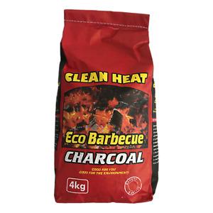 4kg Organic Natural Hardwood Charcoal Premium Clean Heat  Quality BBQ Grade Bag
