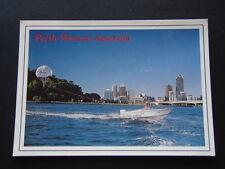 PERTH WESTERN AUSTRALIA SKYLINE PARASAILING HAYWAY MARINE 1991 POSTCARD