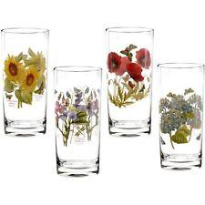 Portmeirion Botanic Garden hi-ball floral glass set of 4