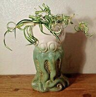 "Octopus Head Stoneware Planter 10"" Vase House Plant Pottery Nautical Ocean Sea"
