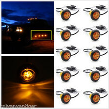 10x 3/4''Mount Amber Clearance LED Bullet Lamp Trailer Round Side Marker Lights
