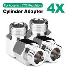 4X Cylinder Adapter Converter Set For Aquarium CO2 Regulators Tank Equipment UK