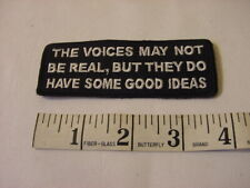 THE VOICES MAY NOT BE REAL BUT THEY DO HAVE GOOD IDEAS  - SEW ON IRON ON PATCH