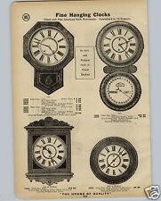 1914 PAPER AD Decorated Porcelain Clocks Clock Waterbury Calendar Regulator 8