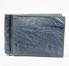 New Grey Mens Money Clip Walllet  Genuine Alligator Crocodile Leather Skin.