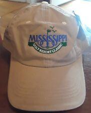 New Mississippi Gulf Resort Classic Mississippi Power Golf Hat Baseball Cap Tan