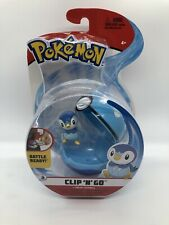 POKEMON Clip N Go PIPLUP + DIVE BALL Wicked Cool Toys 2020 NEW WCT