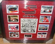 AYRTON Senna F1 CAMPIONE DEL MONDO firmato Montaggio AFTAL