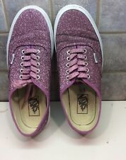 Vans Off The Wall Womens Purple Glitter Platform Sneakers  9.5 Shoes-sneakers