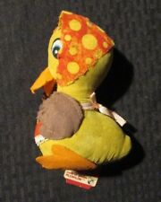 """1970 Russ Berrie Plushlon 5.5"""" DUCK Mother Goose? w/ Tag G/VG 3.0"""