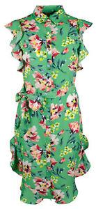 Lauren Ralph Lauren Women's Petite Flutter Sleeve Midi Dress
