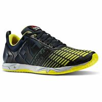 Reebok Crossfit Sprint TR Training Shoes Mens Navy/Yellow Gym Trainers Sneakers