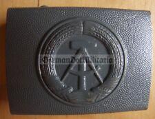 m4) East German NVA VoPo Volkspolizei Grenztruppen Stasi grey belt buckle DDR