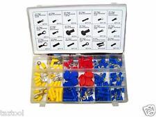 160 Pc Electrical Terminal Assortment kit Ring Butt Spade Male Female Bullet set