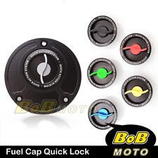 Racing CNC Quick Lock Release Gas Fuel Cap Suzuki GSR 600 750 06 07 08 09 10-13
