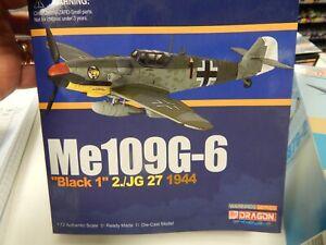 "1/72 Dragon Wings Warbirds Me109G-6 ""Black 1"""