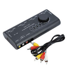 4 in 1 AV Audio S-Video Signal Switcher Splitter Selector Out RCA Switch Box tgh
