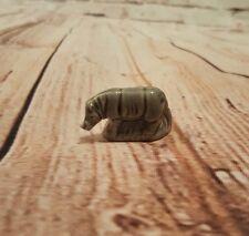 Wade Whisimie Red Rose Tea Male Rhino Figurine Noah's Ark Series Rare Misprint