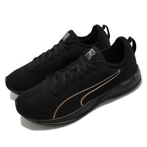 Puma Accent Black Gold Men Unisex Running Sports Shoes Sneakers 195515-05