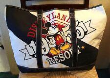 Nwt Disneyland Disney Resort Mickey Mouse Canvas Travel Bag Shopper Tote Rare