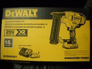 DeWALT DCN680D1 20V MAX XR 18 Gauge Micro Nose Cordless Brad Nailer Kit NEW