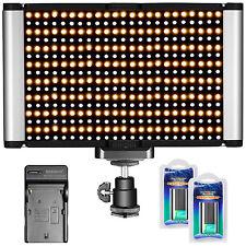 Neewer Luce LED 2 Colori 3200-5600K con Standard Coldshoe Alimentazione per DSLR