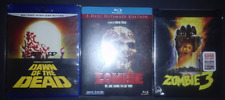Dawn of the Dead + Zombi 2 (Ultimate Edition) + Zombie 3 (Limited) Blu-ray lot