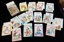 Boxed Set - 16 Double Folder Nursery Rhymes - Songs - Stories 1940s (1 missing)